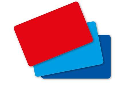 Farbige Blankokarten