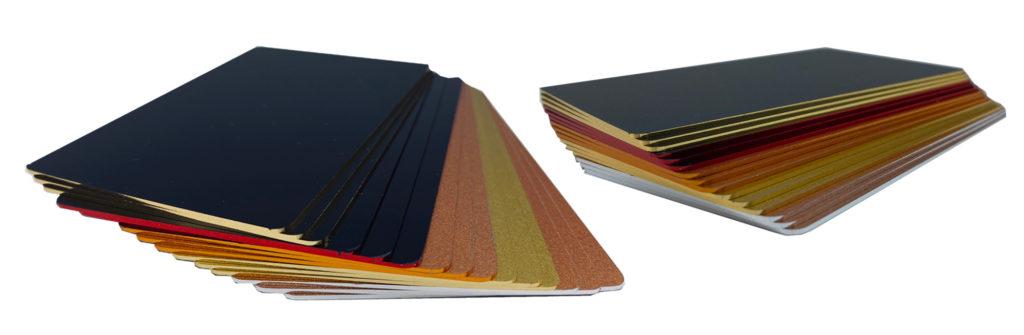 Karten mit farbigen Rändern bedrucken